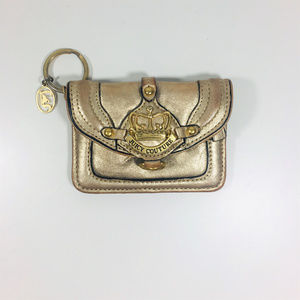 Juicy Couture Golden Coin Key Wallet Clutch Purse